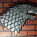 """Ye Ol Duct Tape wall mount for your throne room! """"Winter is Coming"""""""