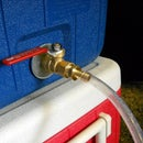 Installing a ball valve on a Coleman cooler