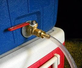 Installing a ball valve on a Coleman cooler