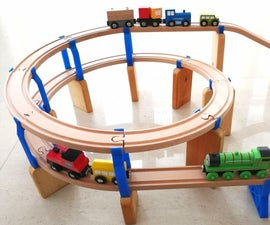 Spiral Ramp for Wooden Train Tracks