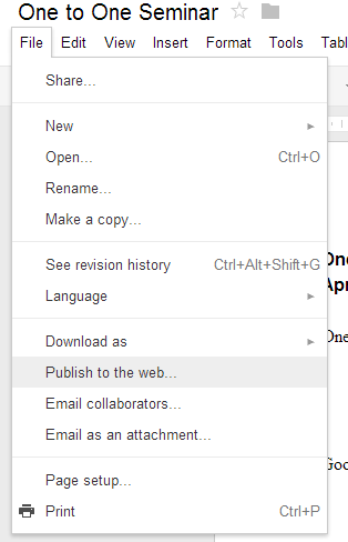 Picture of Create and Publish Your Drive Document
