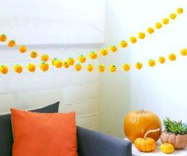 Pumpkin Pom Pom Garland