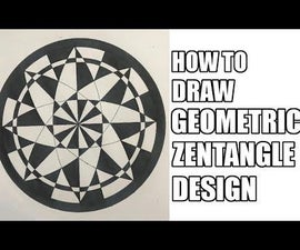 How to Draw the Best Zentangle Geometric Design for Beginners