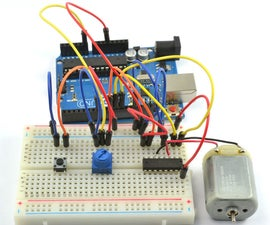 Arduino DC motor speed and direction L293D