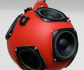 Low-cost Spherical Speaker Array
