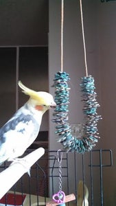 Easy Parrot's Toy From Recycled Puzzle Pieces
