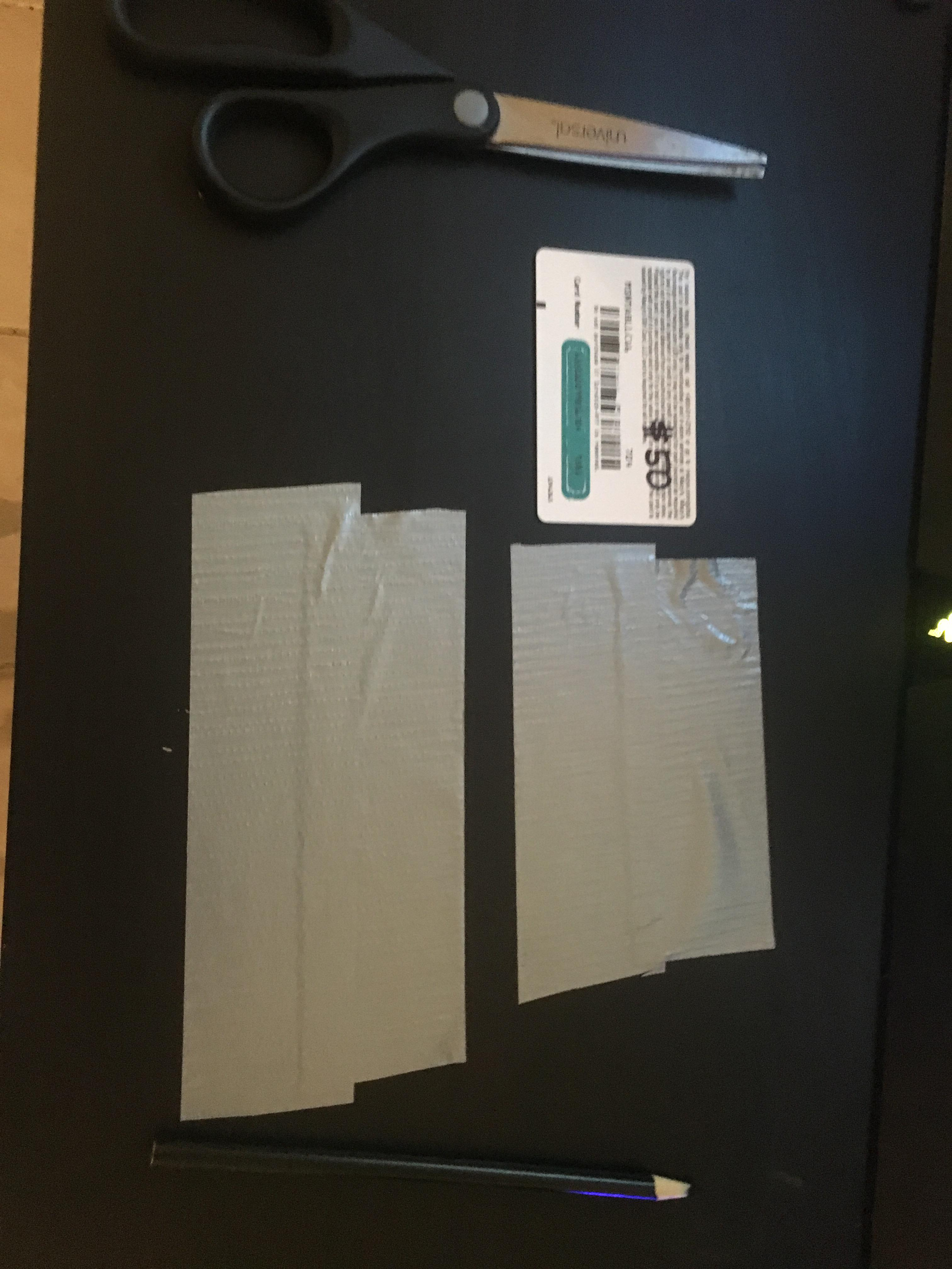Picture of Cut 4 Pieces of Duct Tape