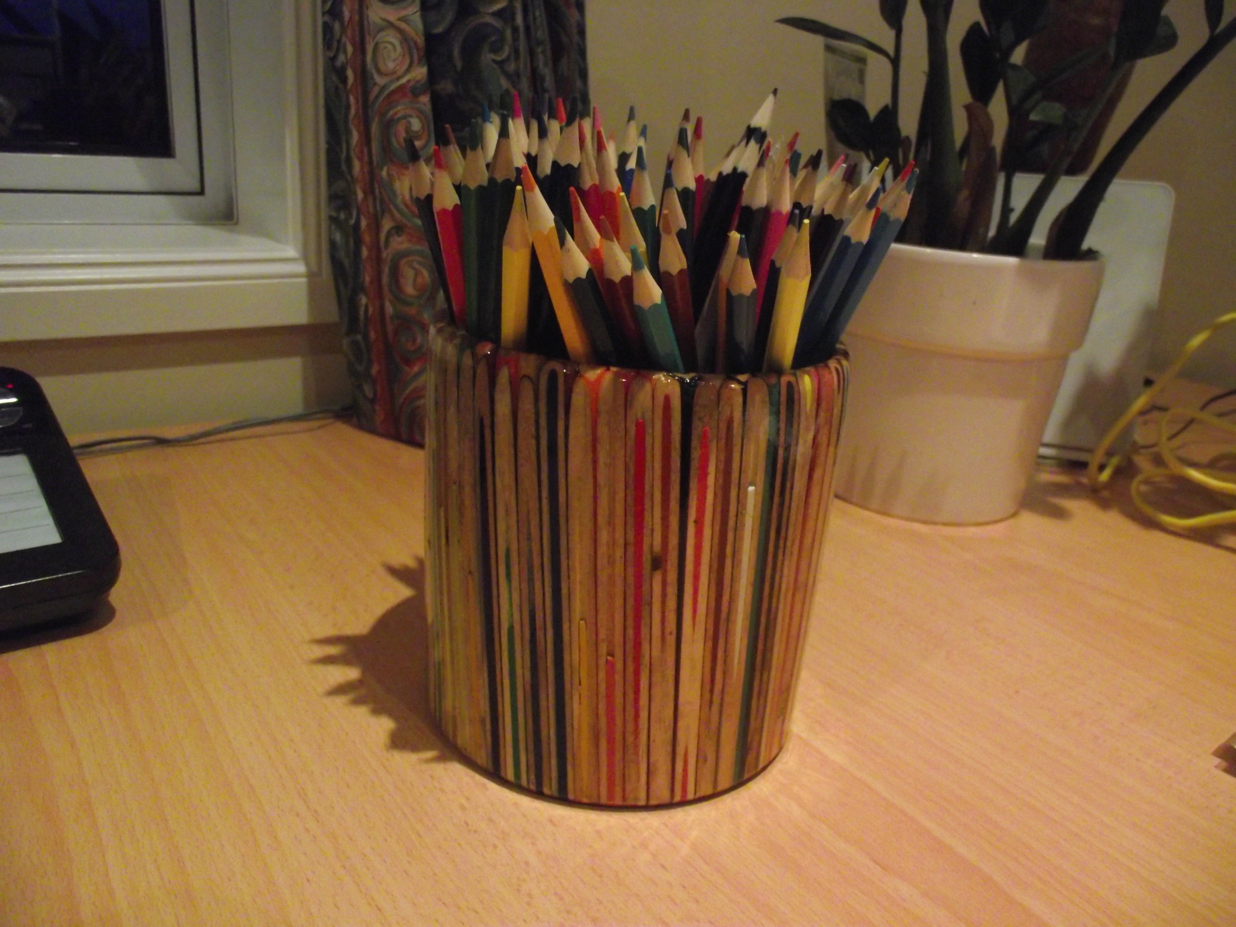 Picture of Pencil Pot Made From Pencils (of Course)