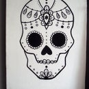 Graphic Sugar Skull Painting