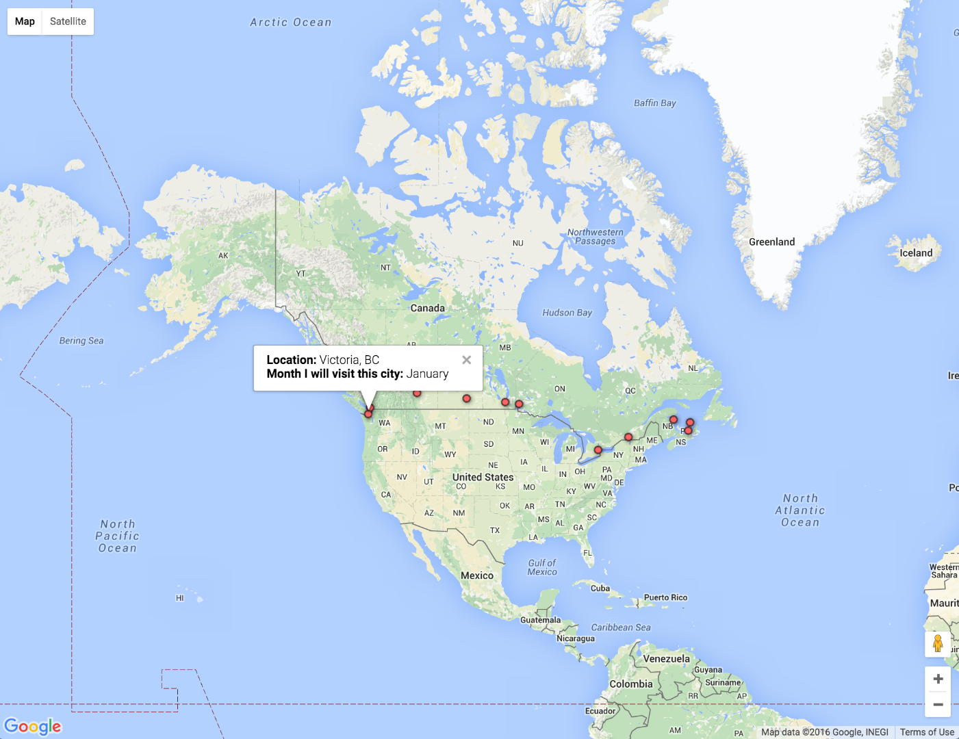 Picture of Create a Clickable Google Map to Share Geographic Information and Metadata
