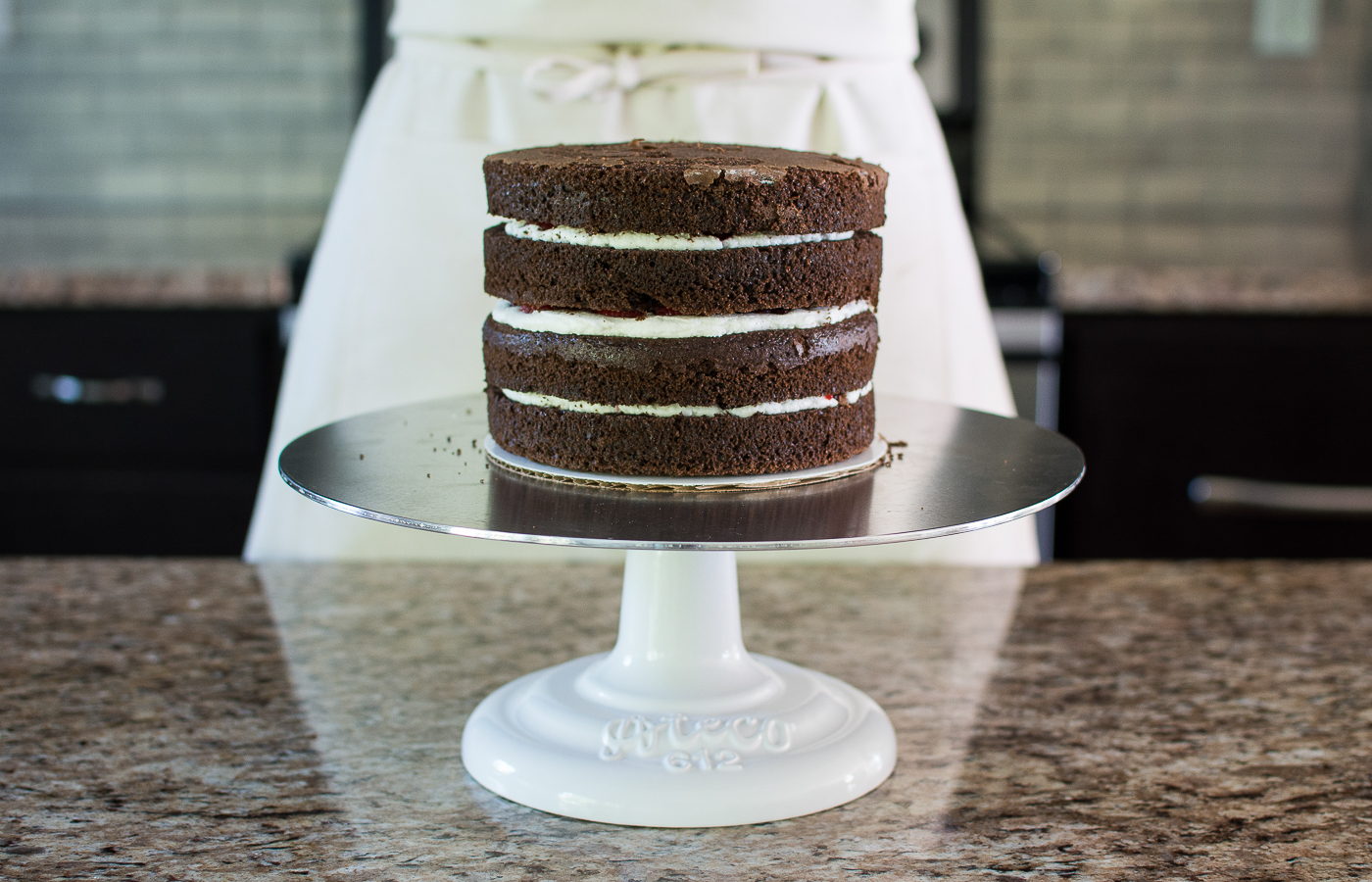 Filling & Stacking the Cake