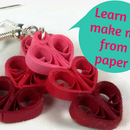 Jewelry Making: Paper Quilled Heart Earrings