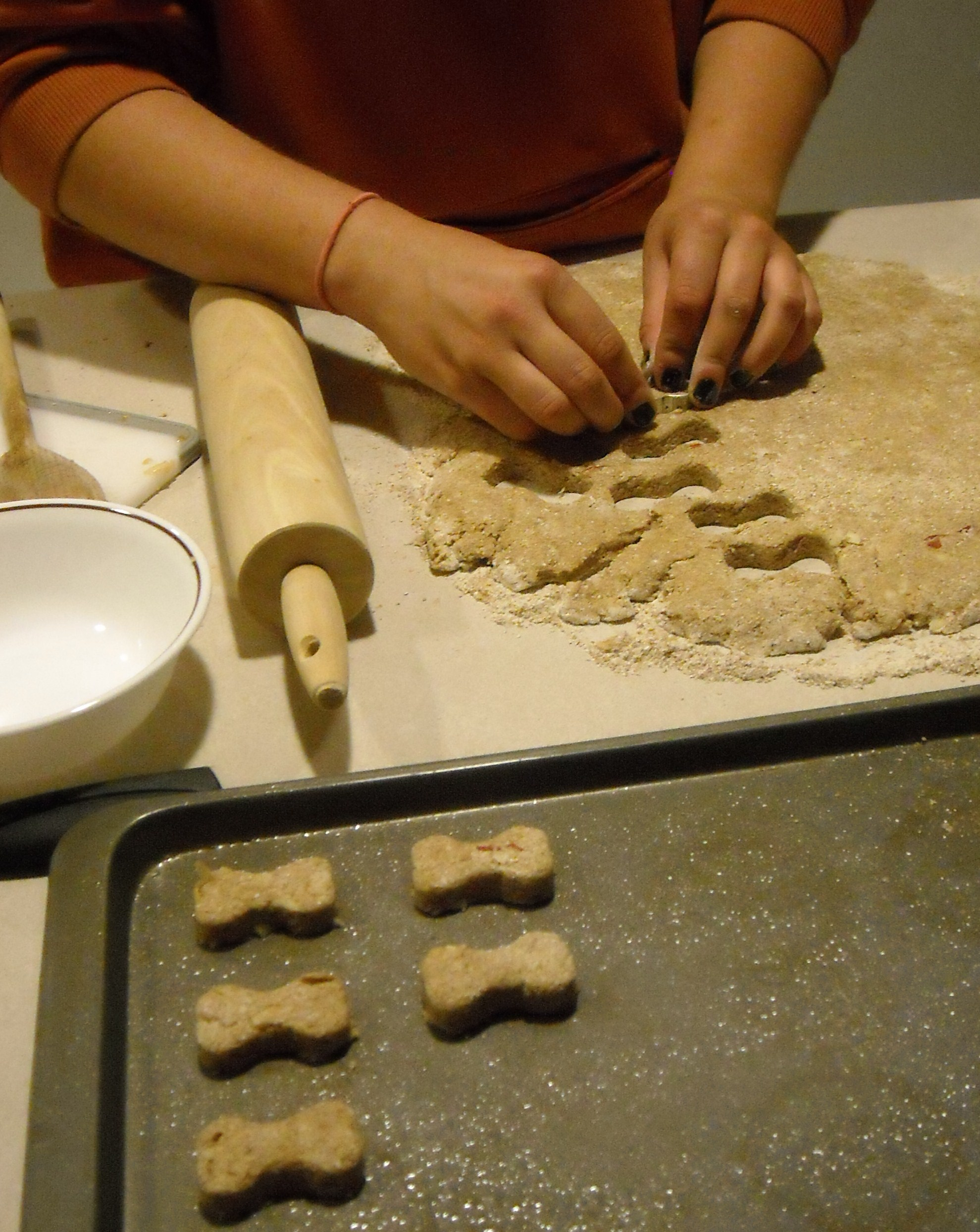 Picture of Rolling and Cutting the Dough