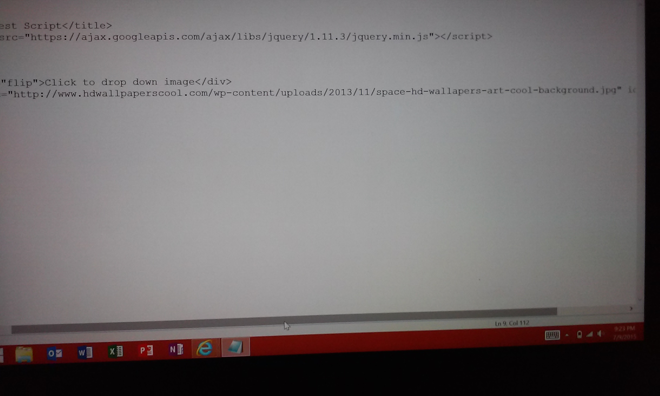 Picture of Adding in Our Image and Html Code