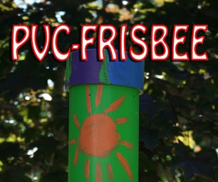 PVC and Frisbee Weather Proof Bird Feeder