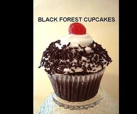 Vegan BLACK FOREST CUPCAKES