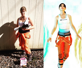 How to make a portal costume out of trash and in one day.