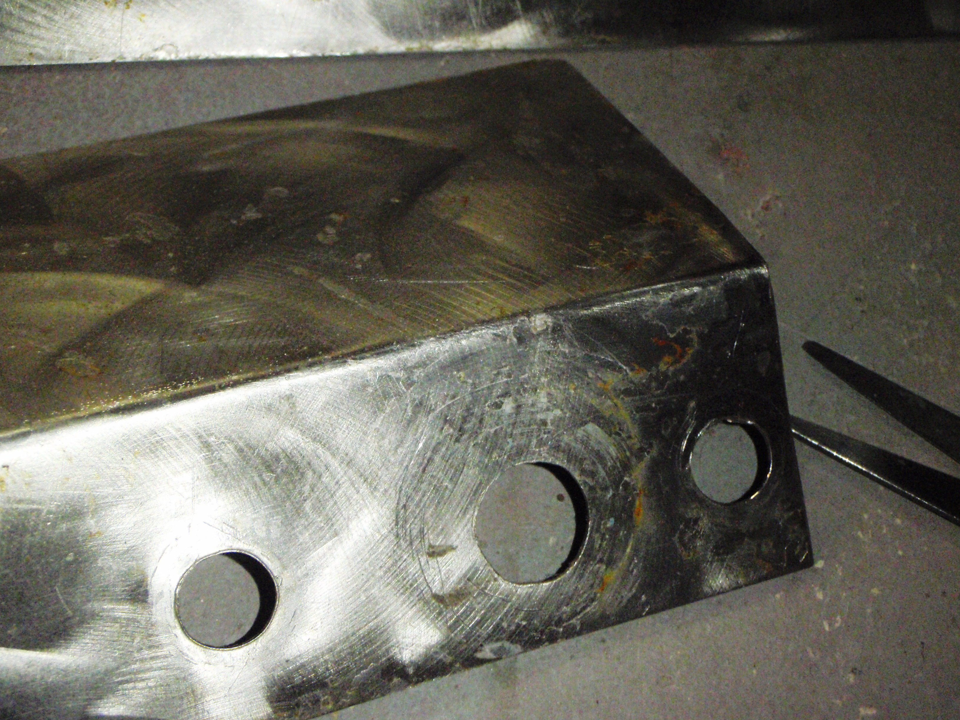 Picture of Sanding the Metal Trim