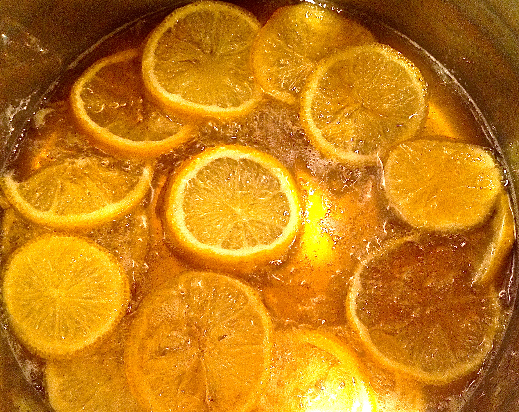 Picture of LEMON SLICES IN a SIMPLE SYRUP SAUCE