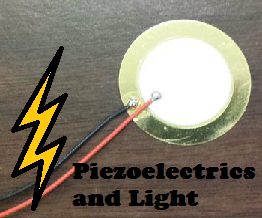 Generating Voltage on a Piezoelectric Disc Using Light