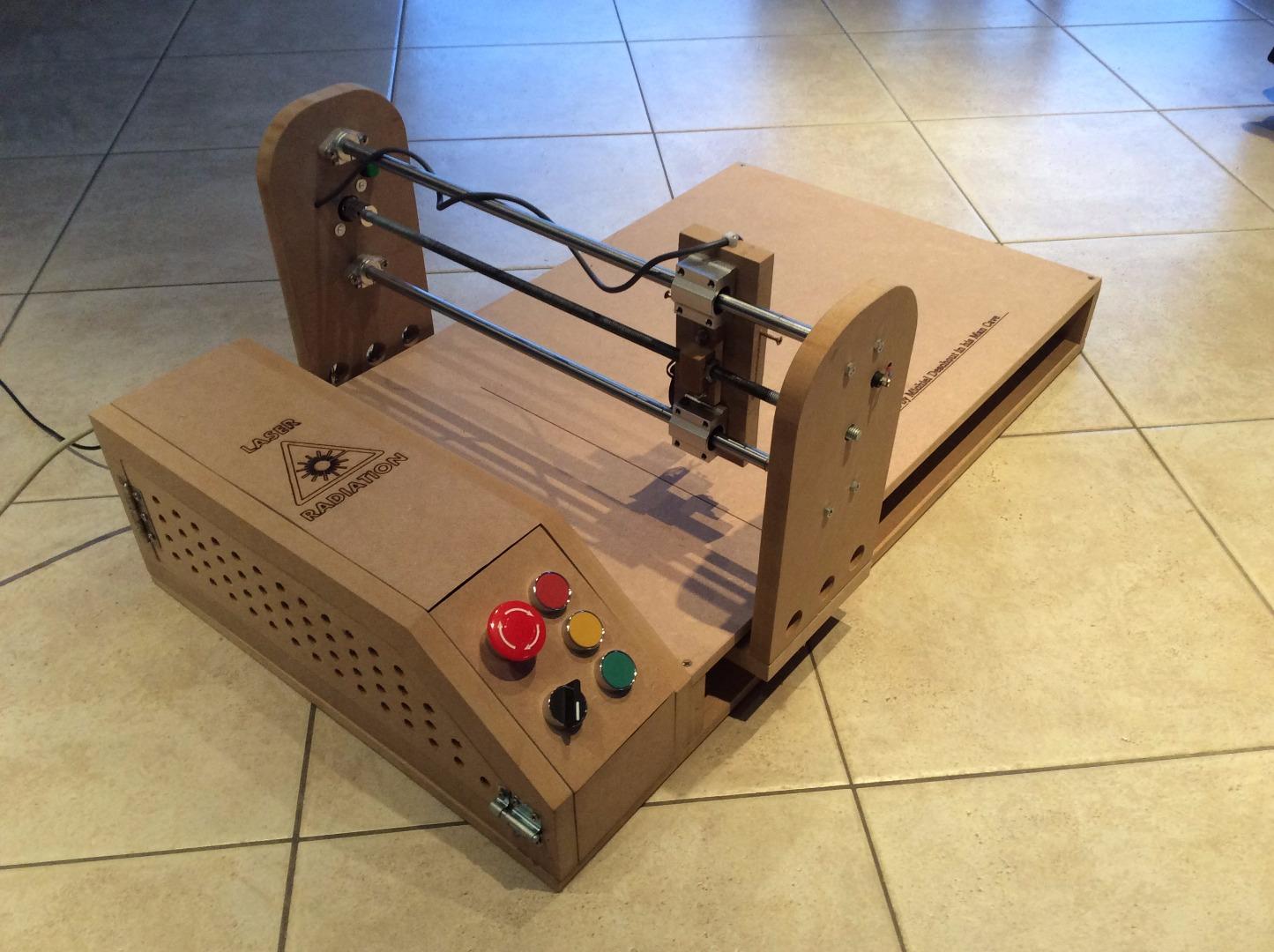 Picture of Arduino Laser Engraver Wood Design!