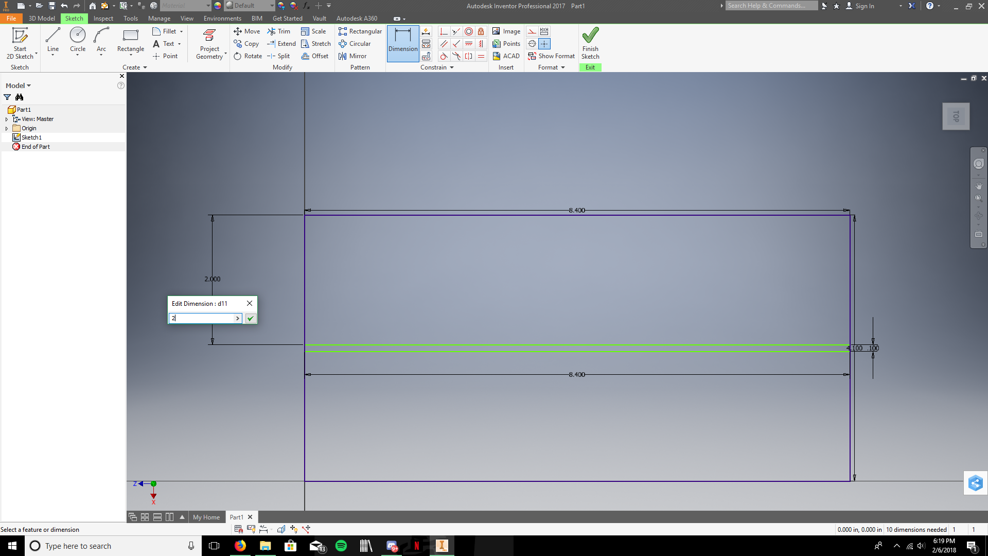 Picture of Sketch the Horizontal Divider