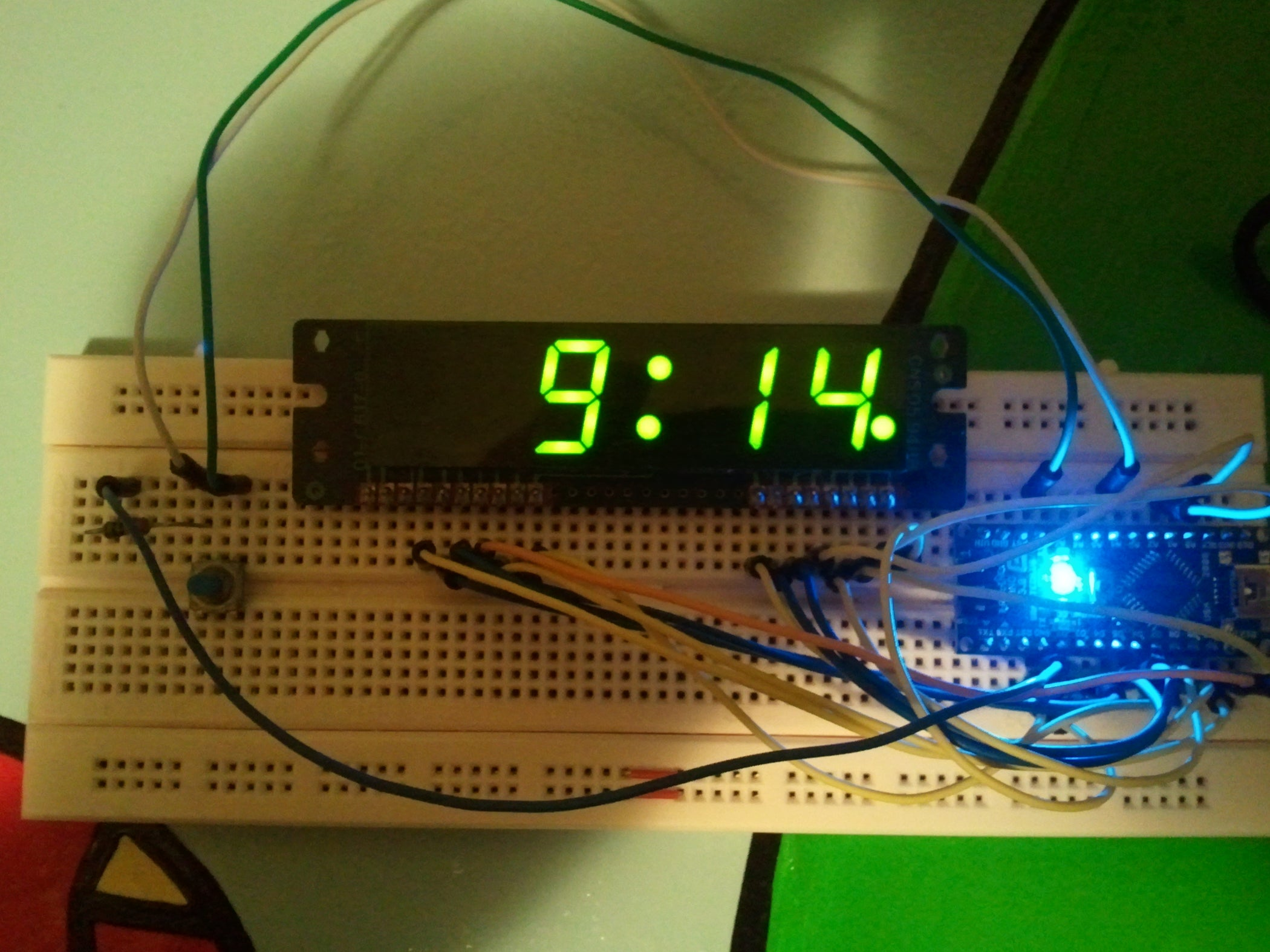 Arduino Clock Using Standard Display 4 Steps How To Build 28 Led Timer
