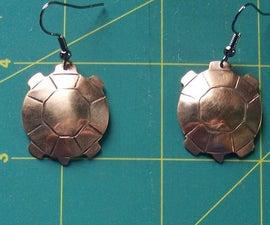 Copper Turtle Earrings