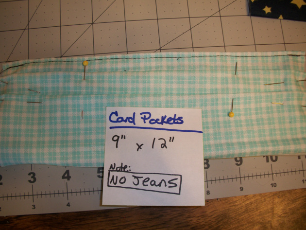Picture of Sew Card Slot Pockets