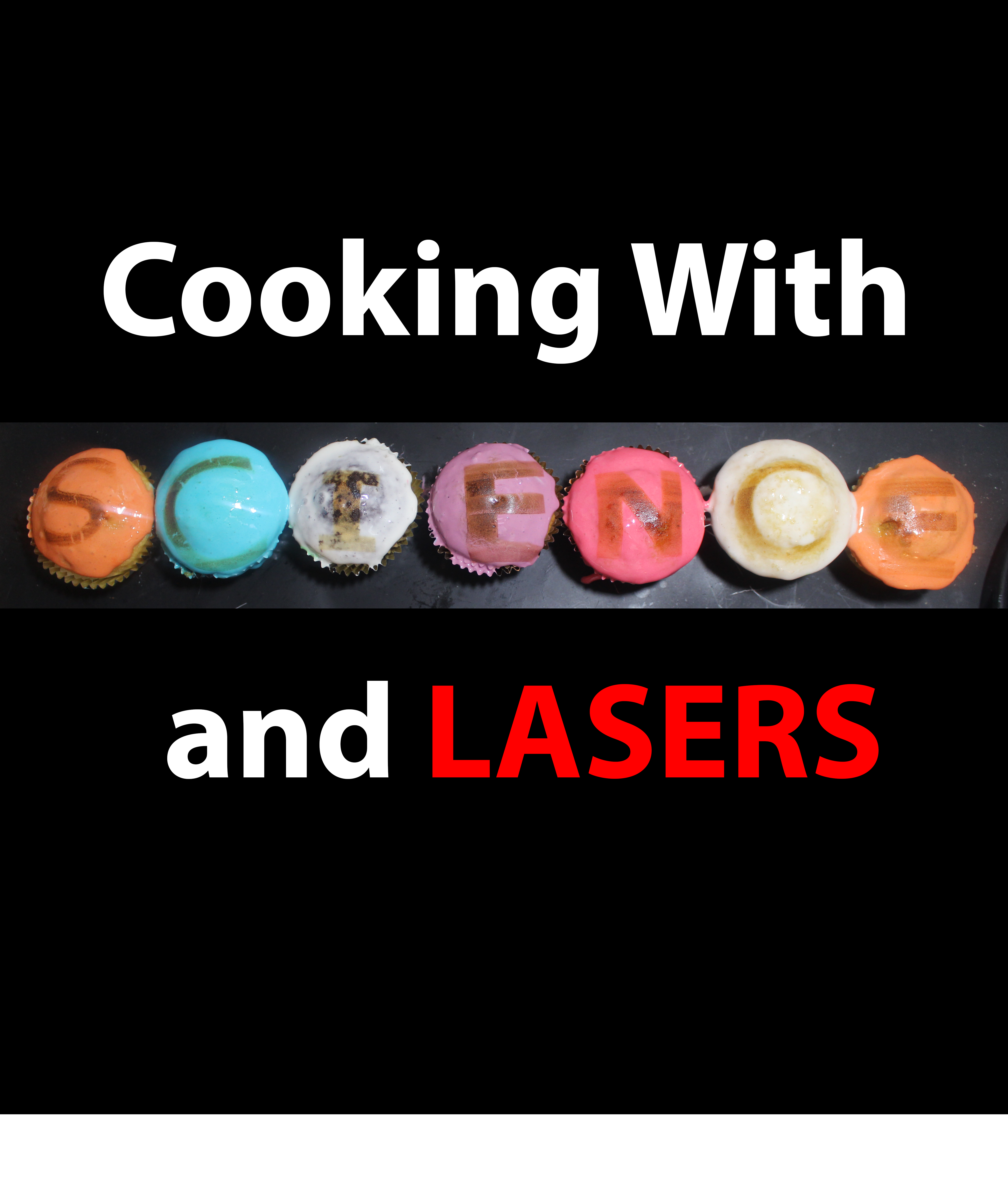 Picture of Toasted Marshmellow Patterned Cupcakes With LASERS!