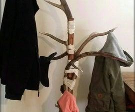 Antler and Rawhide Coat Rack