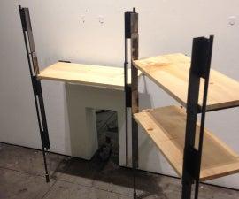 Pivoting Steel Shelving System