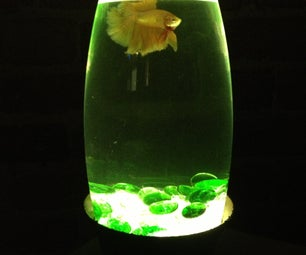Simple LED Lit Fish Bowl