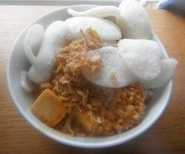 豆腐和包装米沙拉