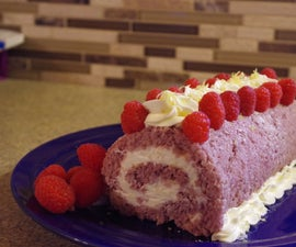 Raspberry and Marscapone Roll Cake (with marscapone recipe)