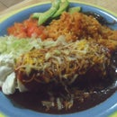 Mexican Fake Out: Bean Burritos Enchilada Style