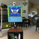 Gaming Station From Recycled Laptop Screen and Old Wood