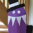 Crazy doodle monster finger puppet