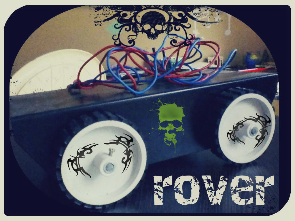 Picture of My First Remote Controle Rover (you Will Like This Click Here to View and If You Like This Than Don't Forget to Vote)