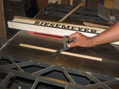 Measure Your Miter Gauge and Cut Two Guide Bars