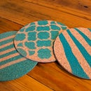 Spray Painted Coasters
