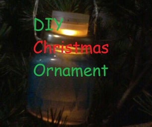 DIYLight Up Ornament Using LED Candle