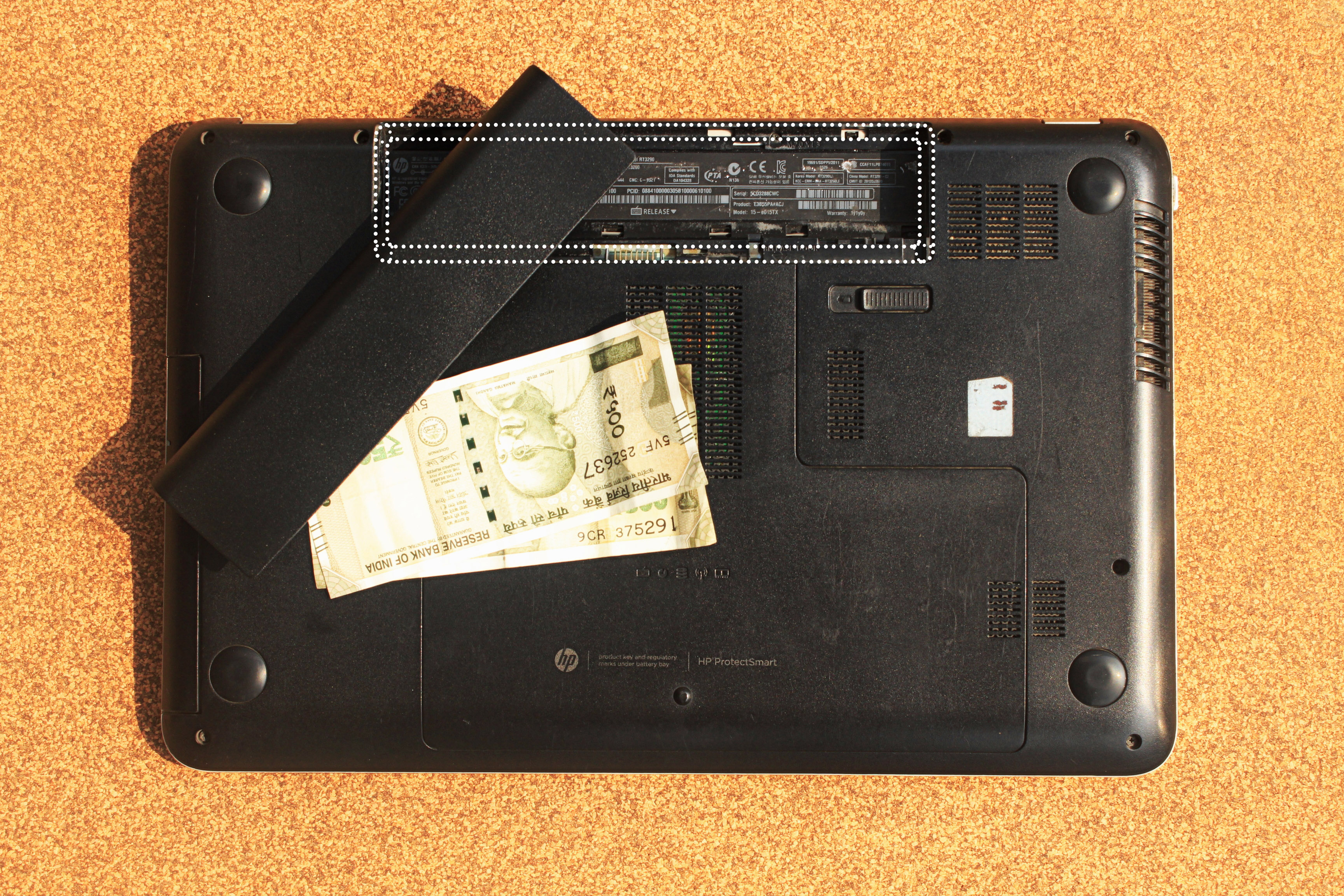 Picture of Fold Your Bills/cash or Any Important Paper.