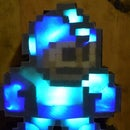 Light-Up Rainbow Wooden Mega Man