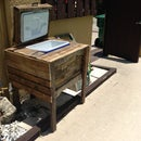 Vintage Ice Chest from Wood Pallets