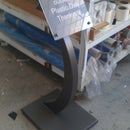 Restaurant Pedestal Sign, Or how to make simple 3D extruded shapes.