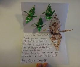 Paper Origami Crane Card