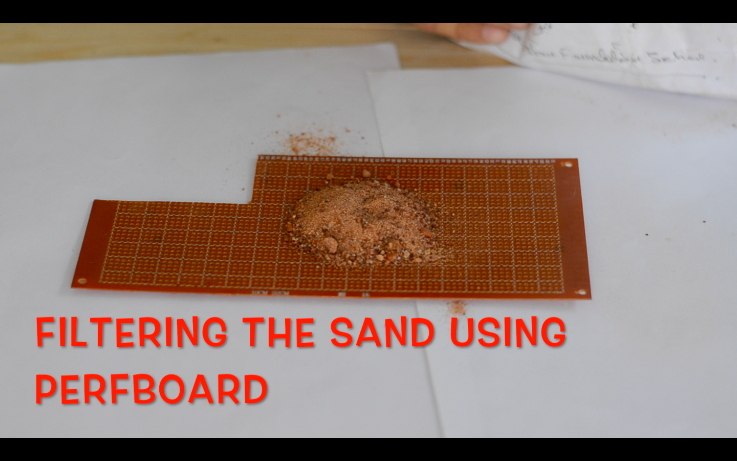 Picture of Preparing the Sand