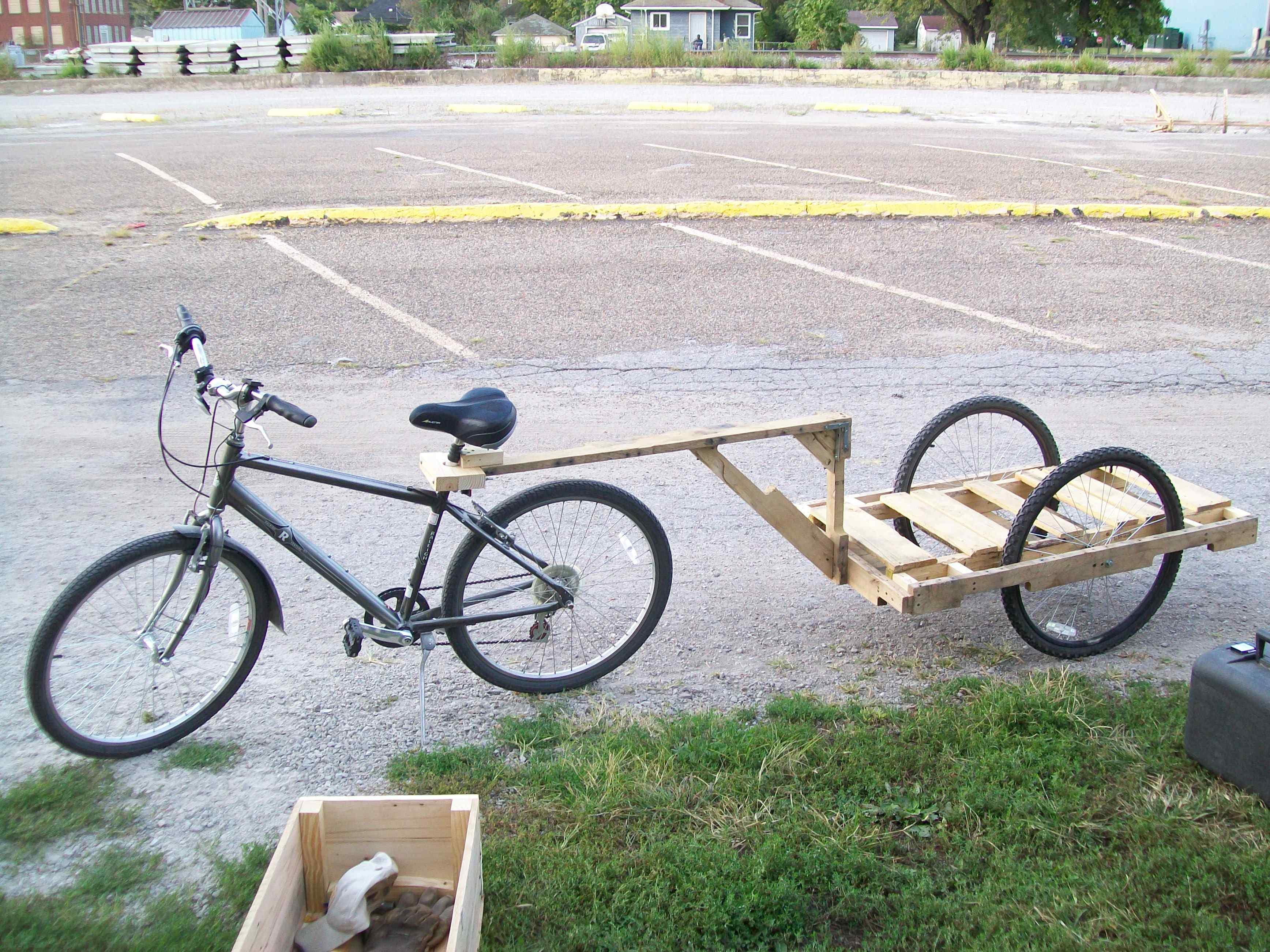 Как сделать на велосипед прицеп
