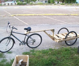 Make a bike trailer for less than $10 !